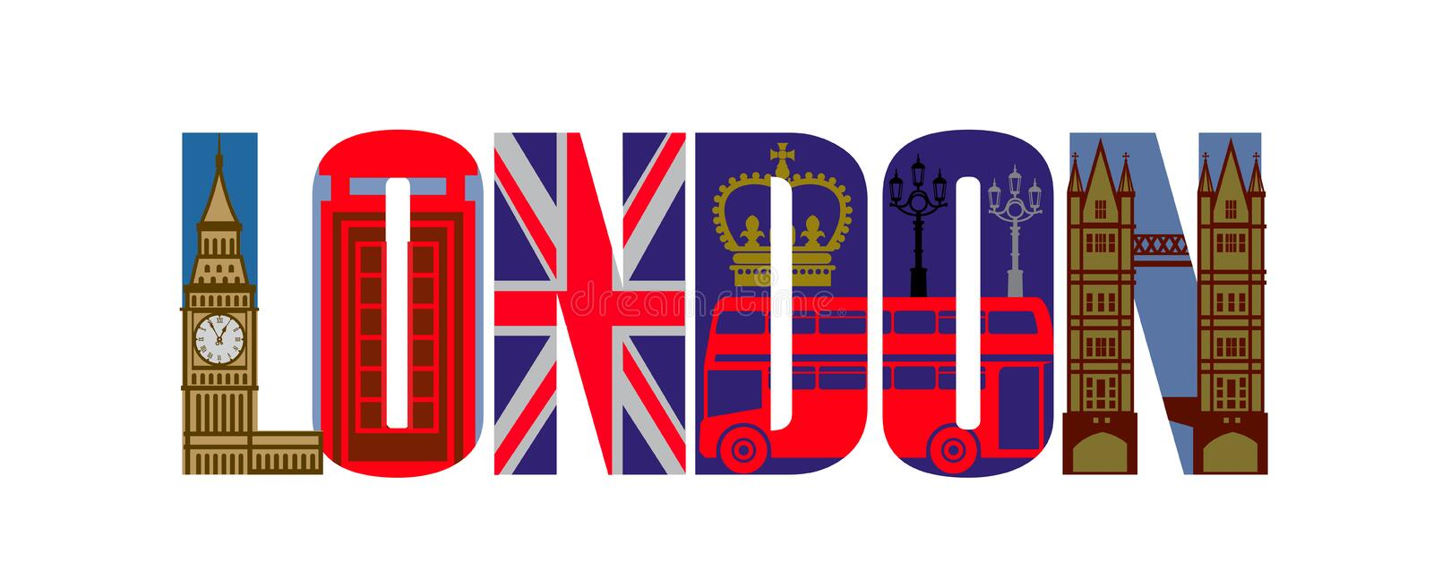 Vector london icon set royalty free illustration