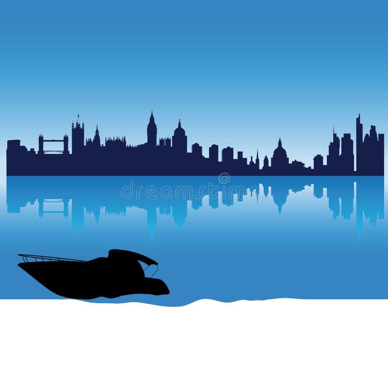 Vector London silhouette skyline royalty free illustration