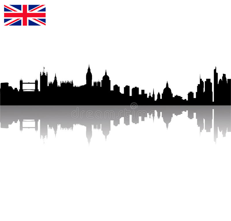 vector London silhouette skyline wi vector illustration