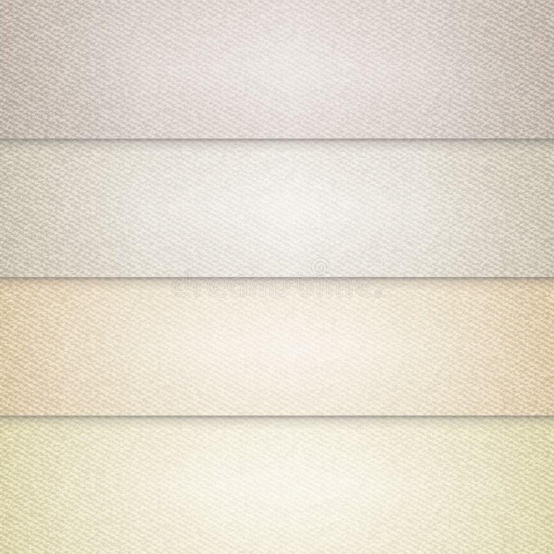 Vector los diversos fondos beige del color, ejemplo realista del paño stock de ilustración
