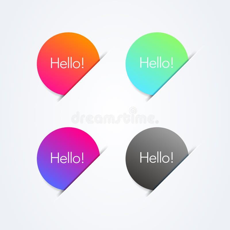 Vector los elementos coloridos abstractos del círculo del ejemplo con el lugar para los colores elegantes modernos del und del te ilustración del vector