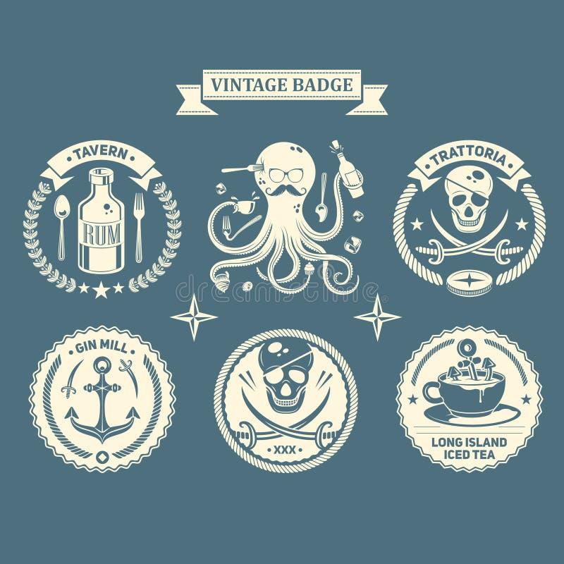 Vector los elementos del diseño, muestras del negocio, identidad, etiquetas, insignias imagen de archivo libre de regalías