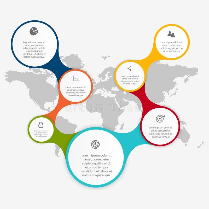 Vector los gráficos coloridos de la información para sus presentaciones del negocio stock de ilustración