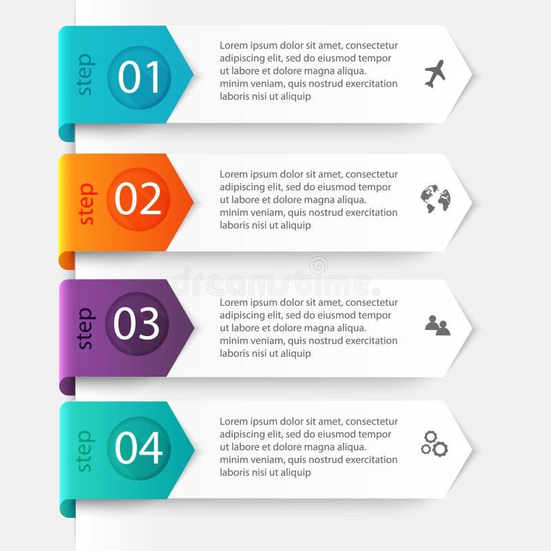 Vector los gráficos coloridos de la información para sus presentaciones del negocio ilustración del vector