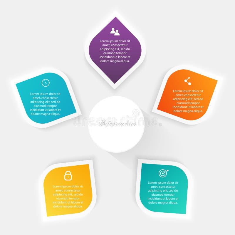 Vector los gráficos coloridos de la información para sus presentaciones del negocio C libre illustration