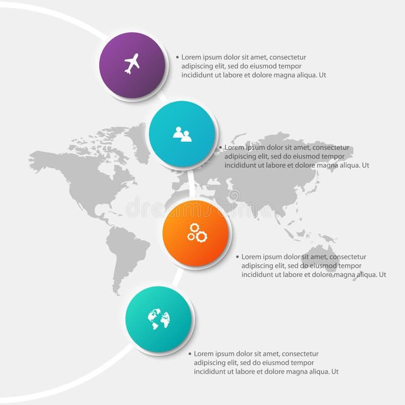 Vector los gráficos coloridos de la información para sus presentaciones del negocio C stock de ilustración