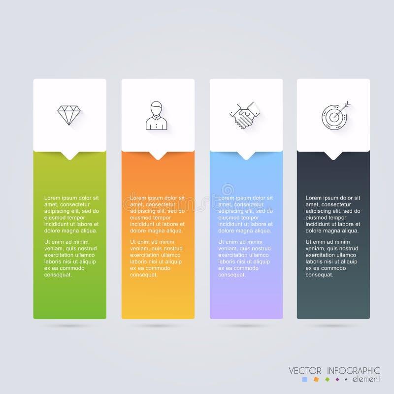 Vector los gráficos coloridos de la información para sus presentaciones del negocio C ilustración del vector