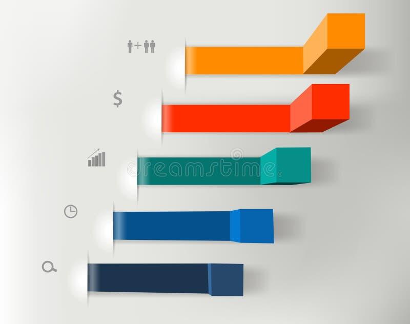 Vector los pasos modernos del negocio a las cartas del éxito y libre illustration