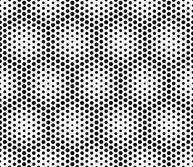 Vector los puntos sagrados inconsútiles modernos del modelo de la geometría, extracto blanco y negro stock de ilustración