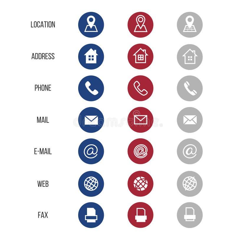 Vector los símbolos para la tarjeta de visita en el fondo blanco libre illustration