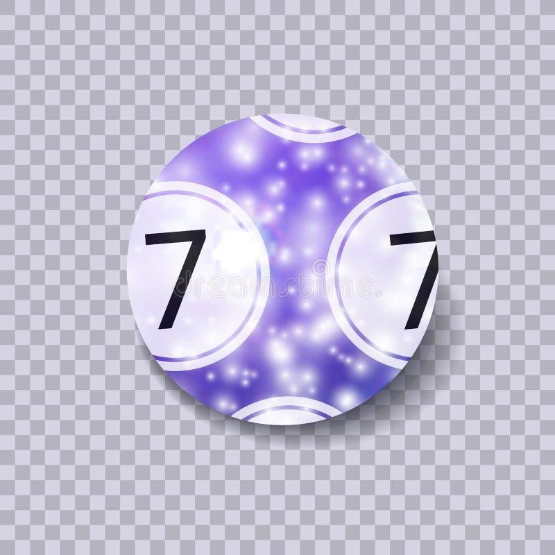 Vector Lottery Magic Ball, Shining Illustration Isolated on Transparent Background. stock illustration