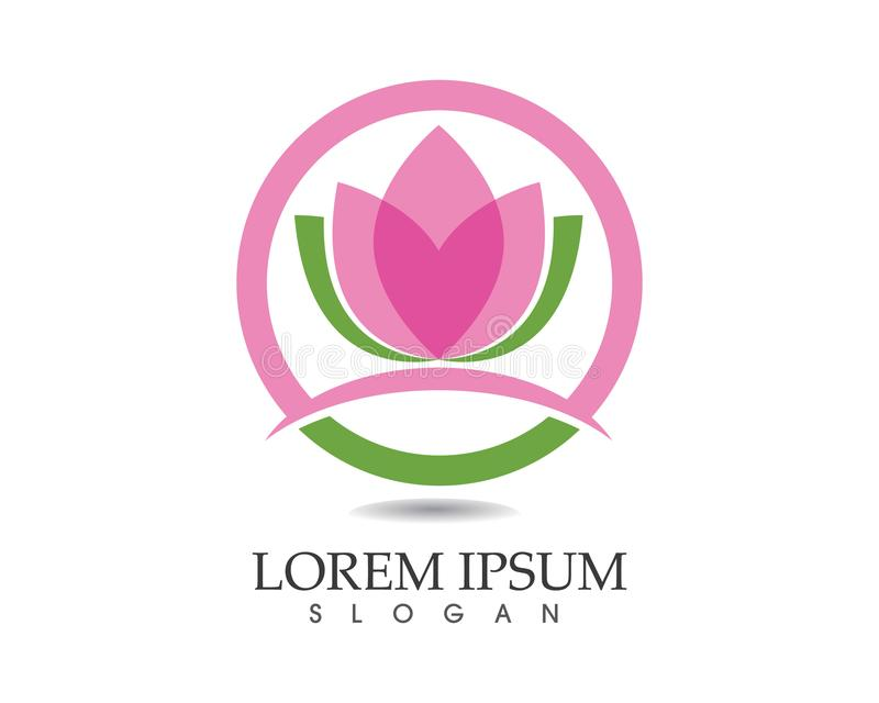 Vector - Lotus Flower Sign for Wellness, Spa and Yoga. Vector Illustration vector illustration