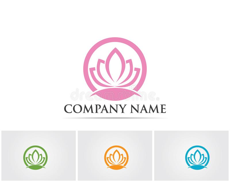 Vector - Lotus Flower Sign for Wellness, Spa and Yoga. Vector Illustration royalty free illustration