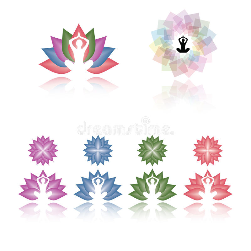 Vector Lotus Yoga Logo Collection Stock Vector Illustration Of Business Beautiful 79827305