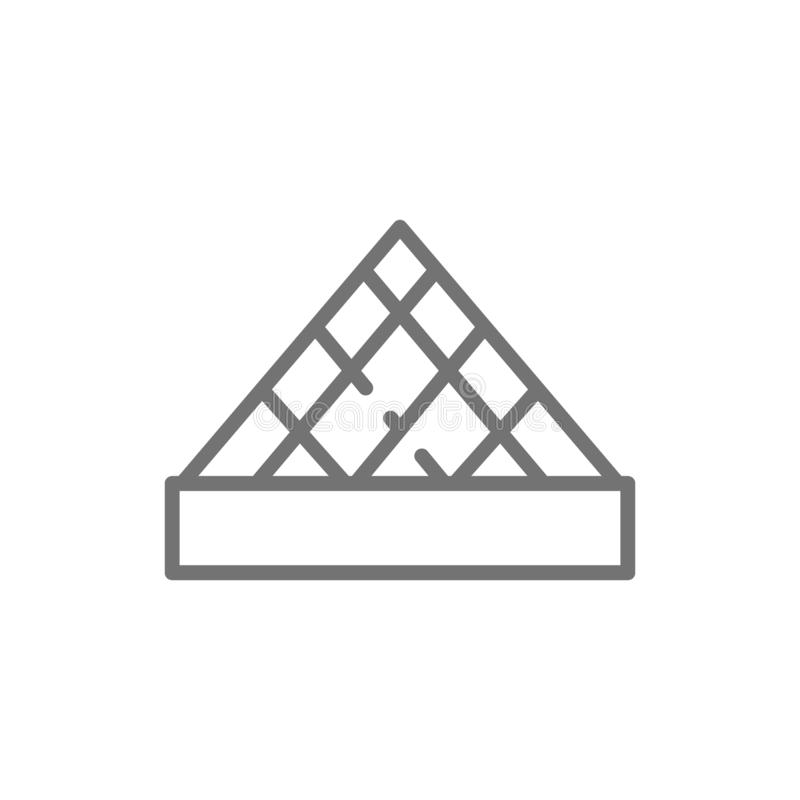 Louvre Museum, landmark of Paris, France line icon. Vector Louvre Museum, landmark of Paris, France line icon. Symbol and sign illustration design. Isolated on royalty free illustration