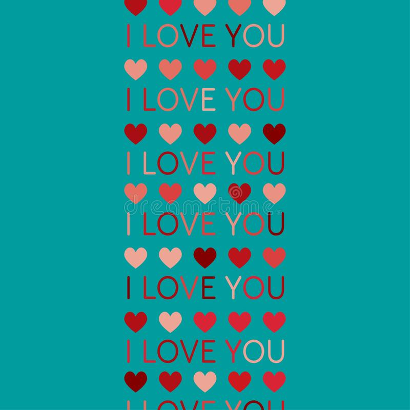 Vector love background. Symbol heart. I love you. royalty free illustration