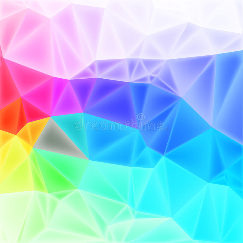 Vector low poly art, background. Colorful low poly background with triangles, vector EPS10 with mesh stock illustration
