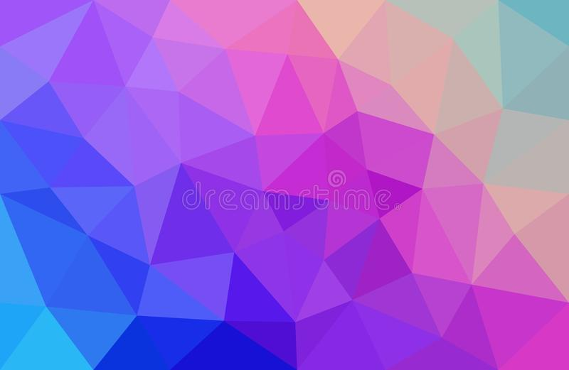 Download Pink And Blue Abstract Background Low Poly Stock Vector