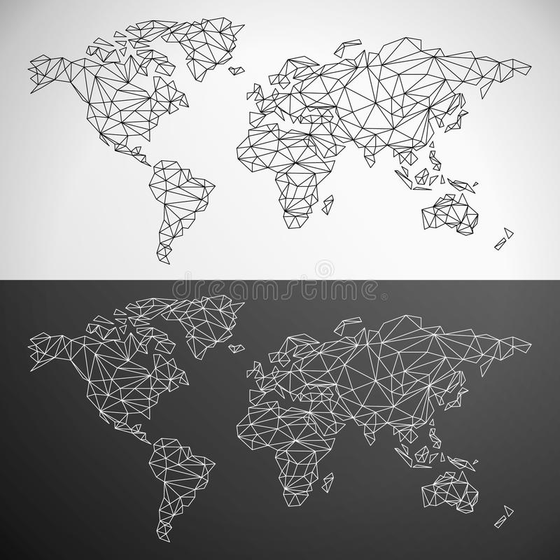 Vector low poly world map stock vector illustration of color 50510734 download vector low poly world map stock vector illustration of color 50510734 gumiabroncs Image collections