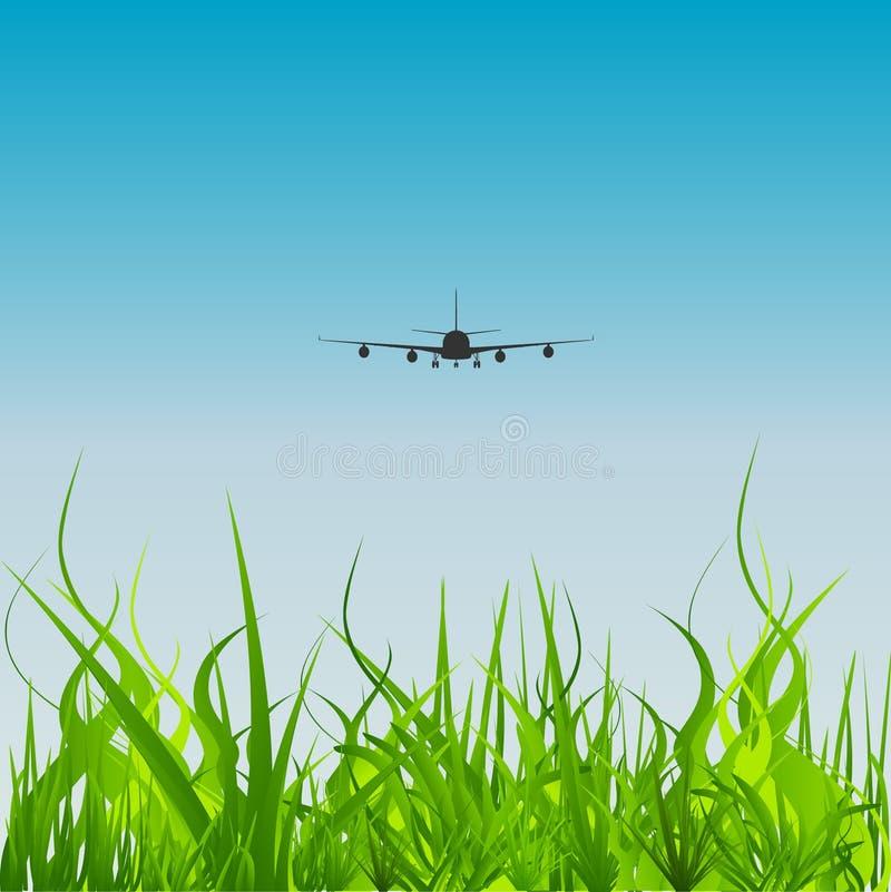vector Luchtvaart stock illustratie