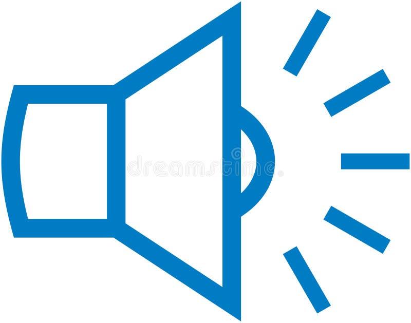 Vector luidsprekersillustratie vector illustratie