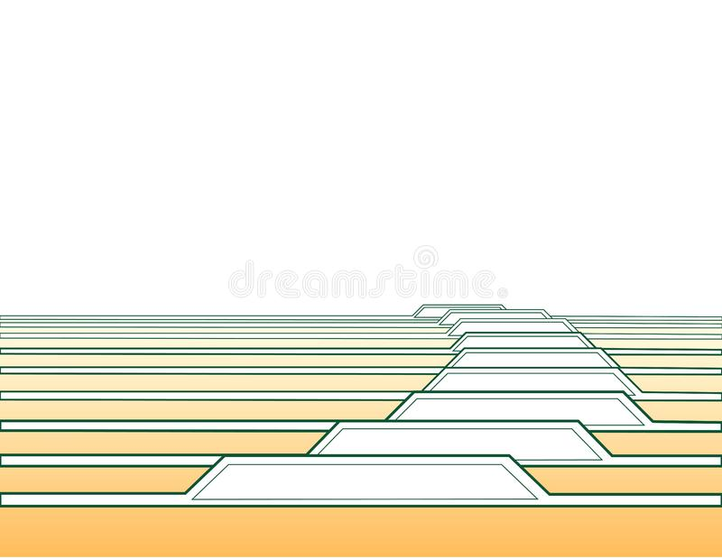 Vectorlusjes stock afbeelding