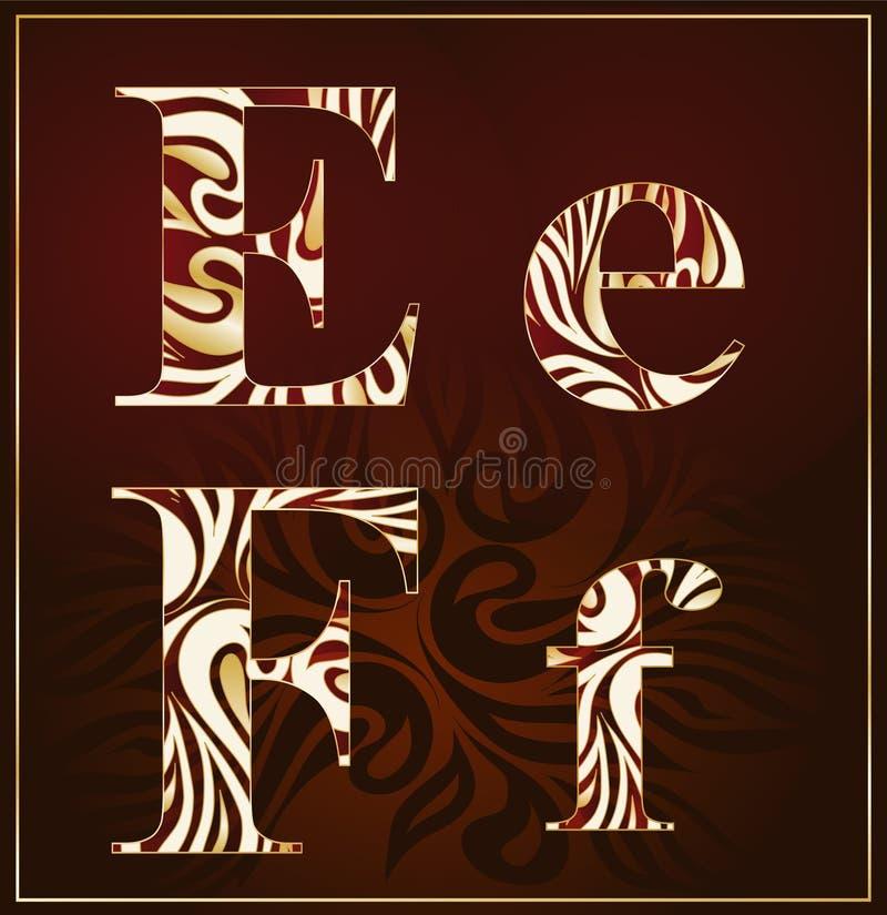 Download Vector, A Luxury Alphabet ( E,F ) Stock Vector - Image: 20023395