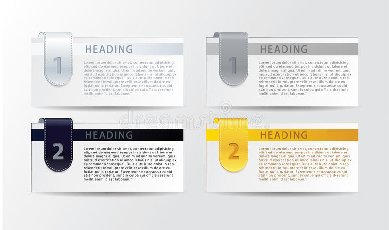 Vector luxury progress cards for your business. Realistic feel.