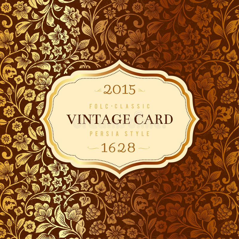 Vector luxury vintage card.