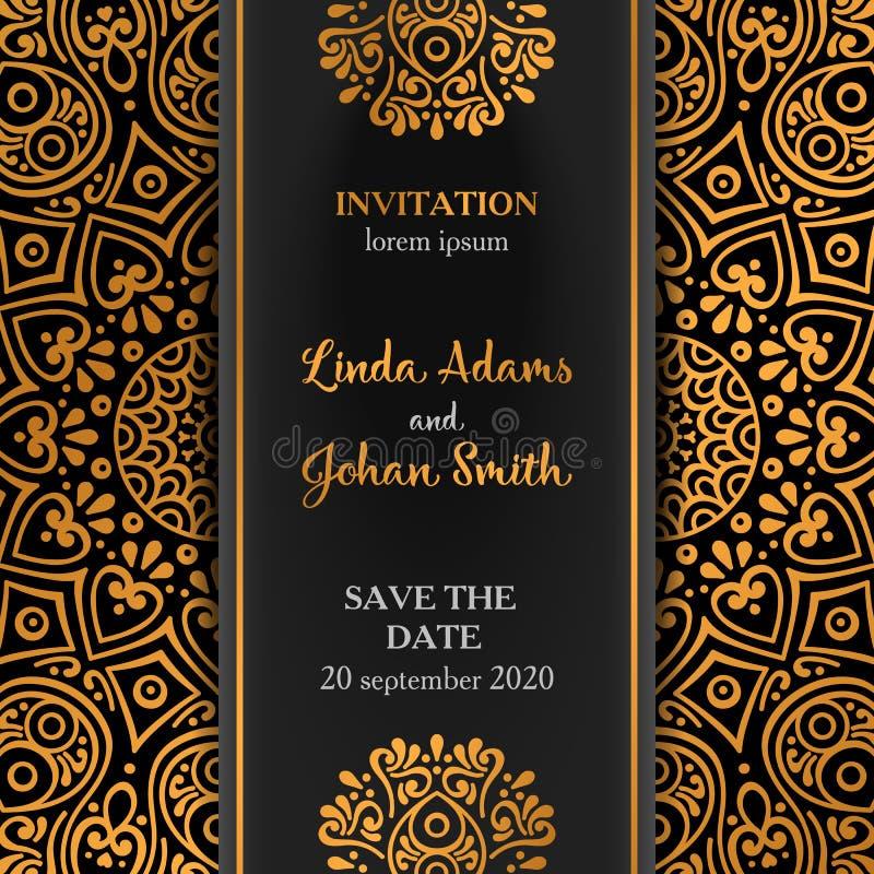 Vector luxury wedding invitation with mandala stock vector download vector luxury wedding invitation with mandala stock vector illustration of muslim invitation stopboris Gallery