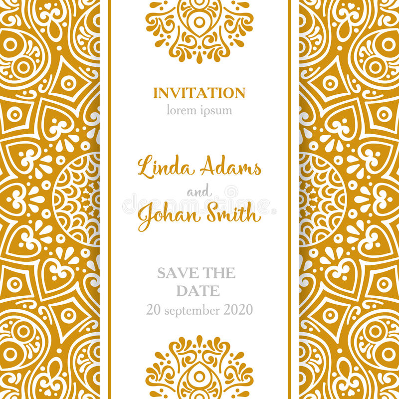 Vector luxury wedding invitation with mandala stock image image of download vector luxury wedding invitation with mandala stock image image of decoration muslim stopboris Choice Image