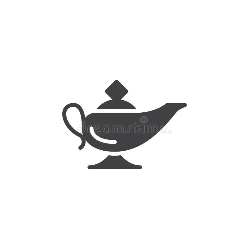 Vector mágico del icono de la lámpara de aceite libre illustration