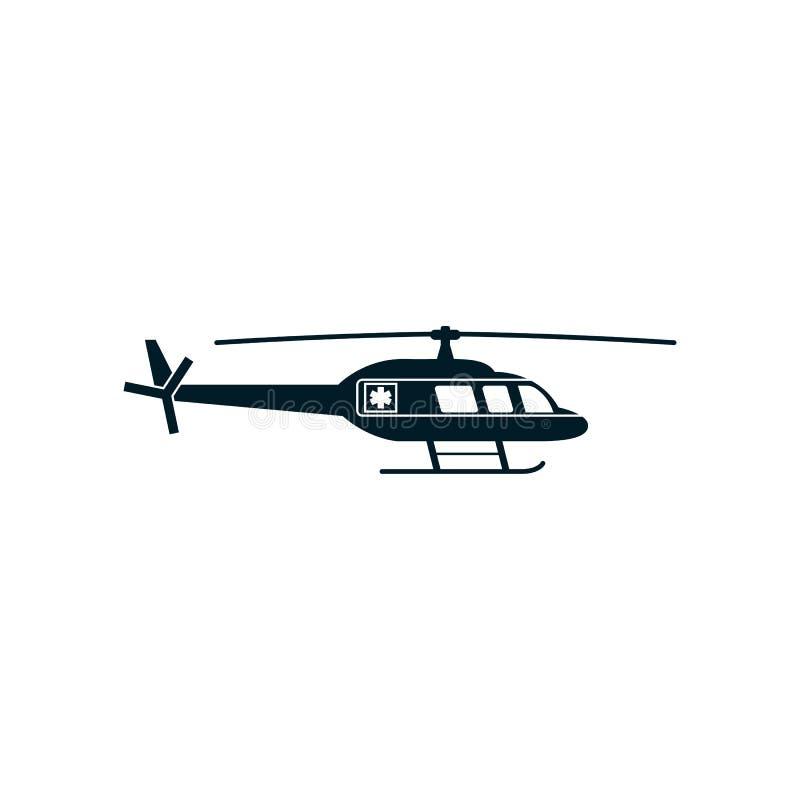 Vector médico del icono de la emergencia del helicóptero libre illustration