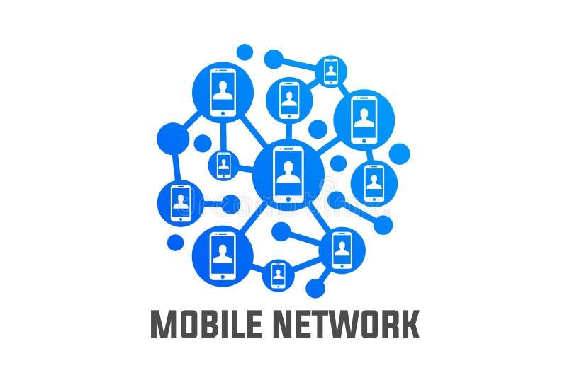 Vector móvil de la conexión de red del teléfono stock de ilustración