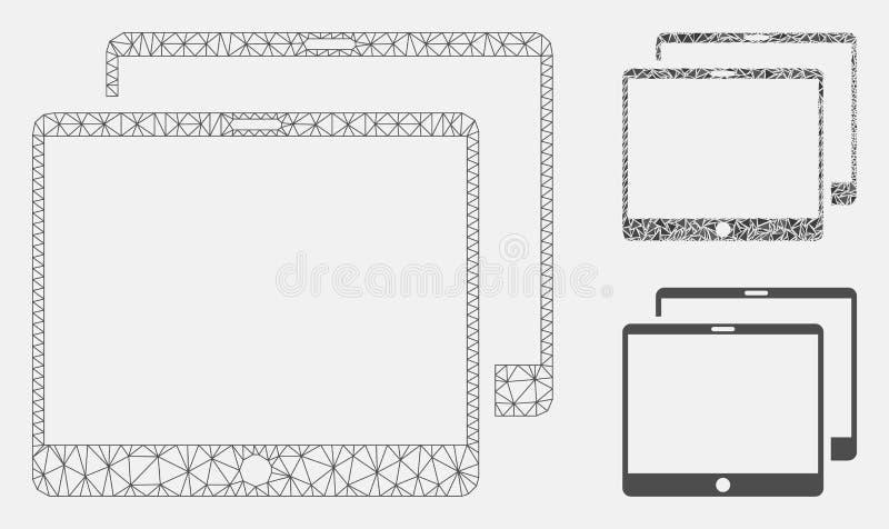 Vector móvil Mesh Wire Frame Model de las etiquetas e icono del mosaico del triángulo libre illustration