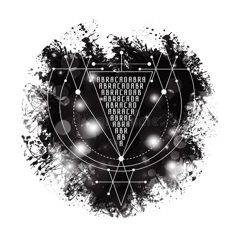 Vector Magic Alchemy Symbol Abracadabra Geometric Logo For