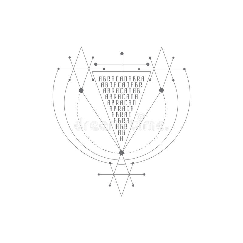 Vector Magic Alchemy Symbol Geometric Logo For Spirituality
