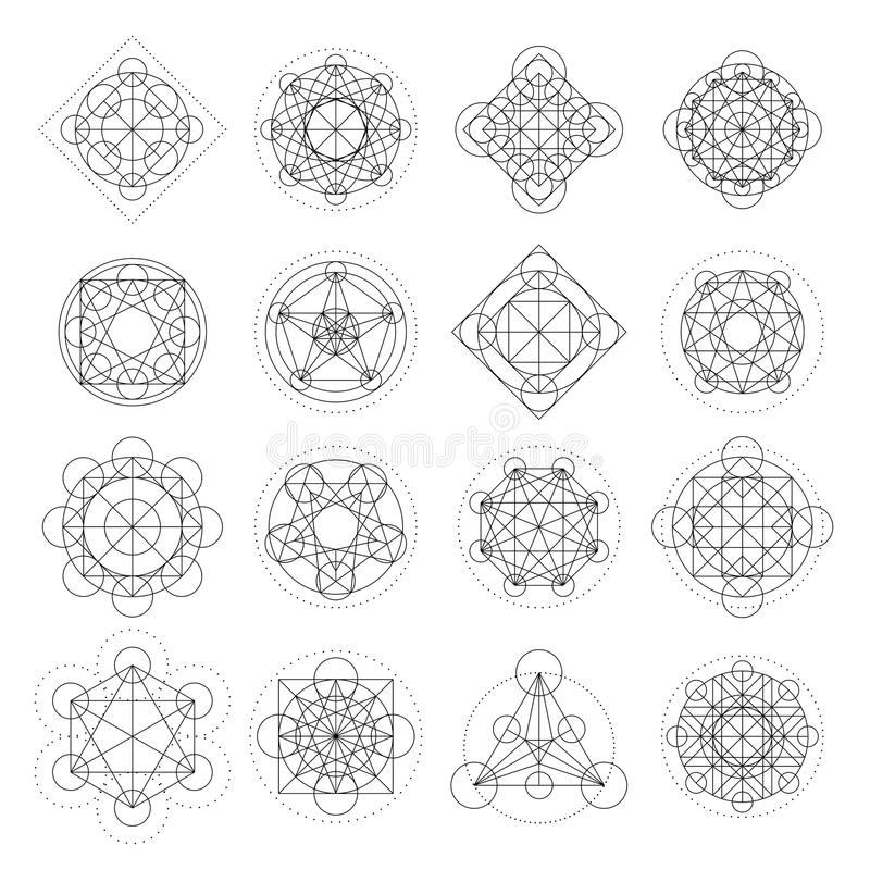 Vector Magic Geometry Signs royalty free illustration