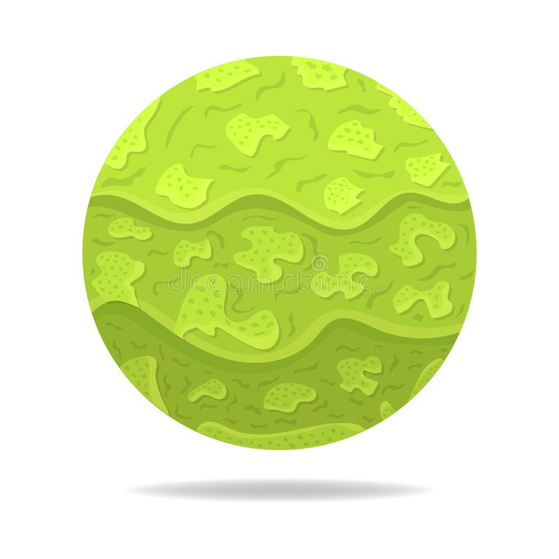 Vector Magic Sphere with Shadow. Green Abstract Ball. Paper Effect. Vector illustration for Your Design, Web stock illustration