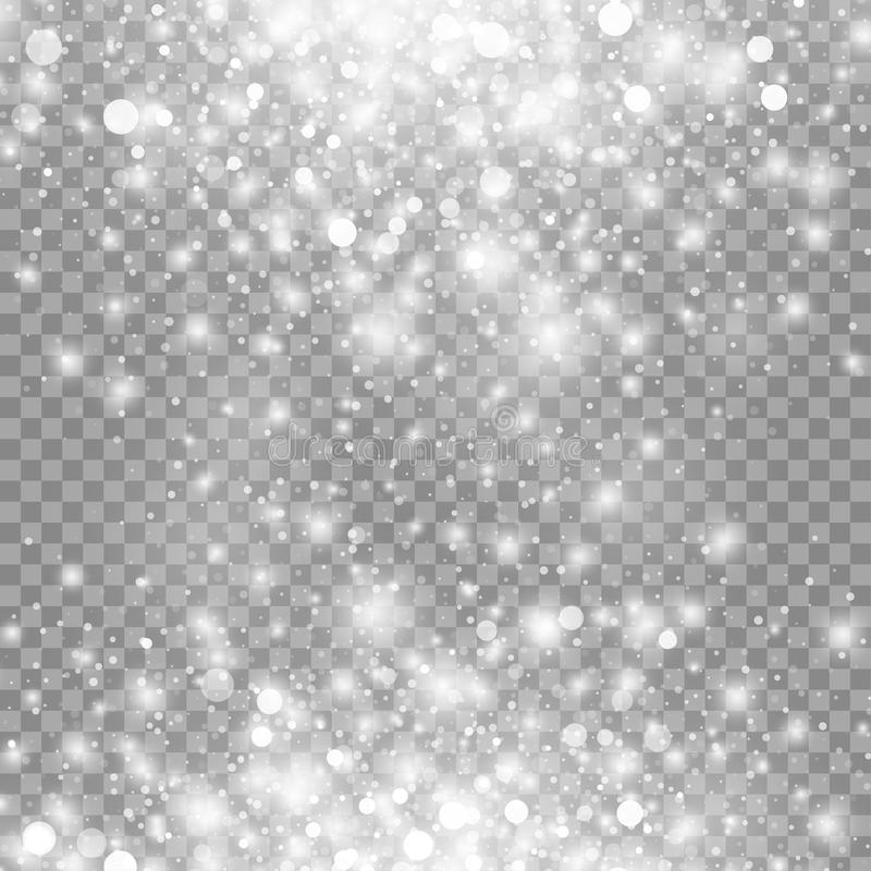 Free Vector Magic White Glow Light Effect Isolated On Transparent Background. Royalty Free Stock Photography - 82523157