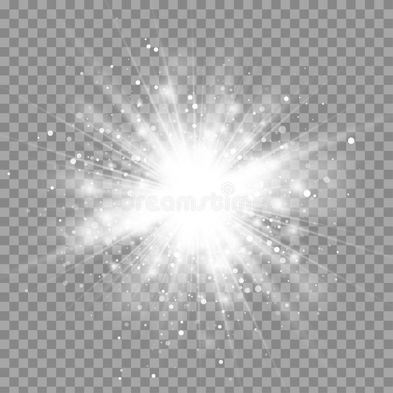 Free Vector Magic White Rays Glow Light Effect Isolated On Transparent Background Stock Photos - 82454943