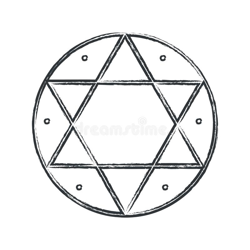 Vector magical symbol: Hexagram, Seal of Solomon. vector illustration