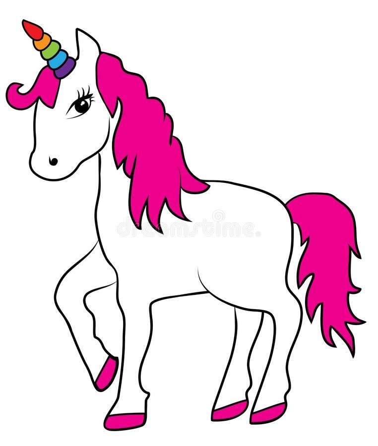 Download Vector Magisch Unicorn With Rainbow Horn Vector Illustratie - Illustratie bestaande uit droom, decoratief: 107705685