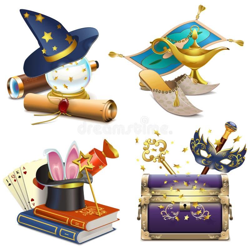 Vector Magische Conceptenpictogrammen stock illustratie