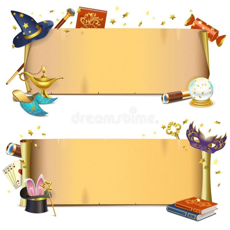 Vector Magische Document Rollen stock illustratie