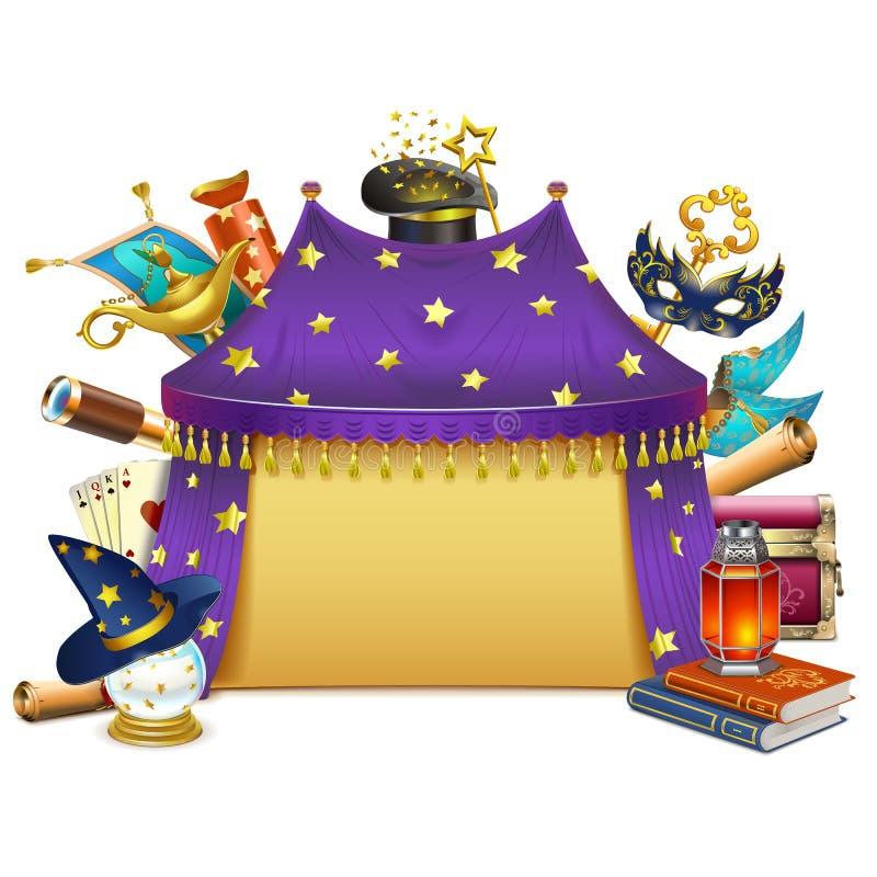 Vector Magische Markttent royalty-vrije illustratie