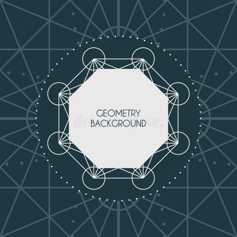 Vector Magische Meetkundeachtergrond stock illustratie