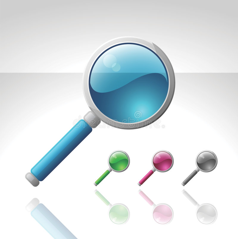 Vector magnifying glass royalty free illustration