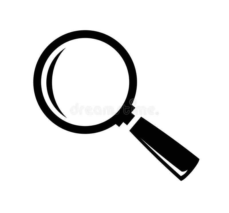 Vector magnifying glass stock illustration