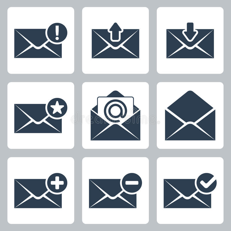 Download Vector mail icons set stock vector. Image of communication - 34986089